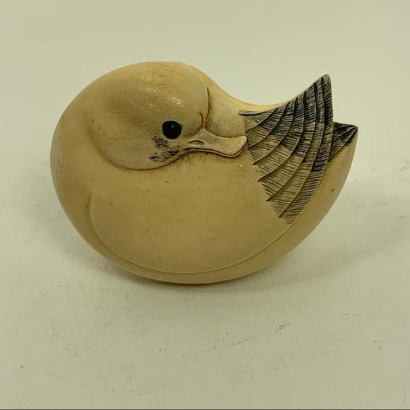 MMA Bird Trinket Box - Faux Scrimshaw Seagull
